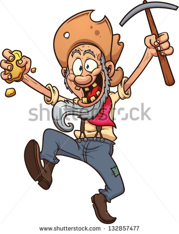 Gold Miner Stock Images, Royalty.