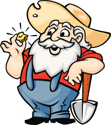 Animated gold miners clipart.