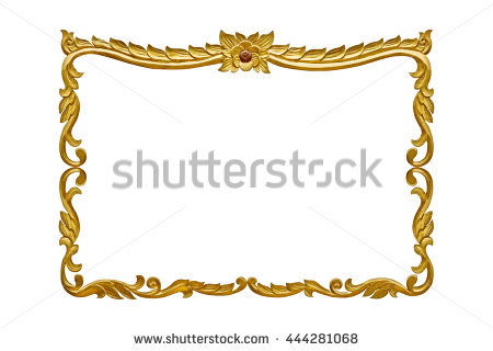 Free Rectangle wooden frame. Gold museum frame Photos.