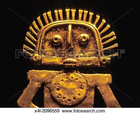Stock Photograph of Museum of gold, museo del oro, statue.
