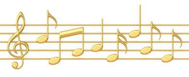 Background Black Gold Music Notes Stock Illustrations.