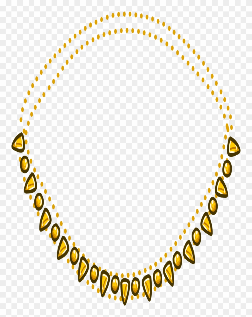 Gold Necklace Png Transparent Picture.