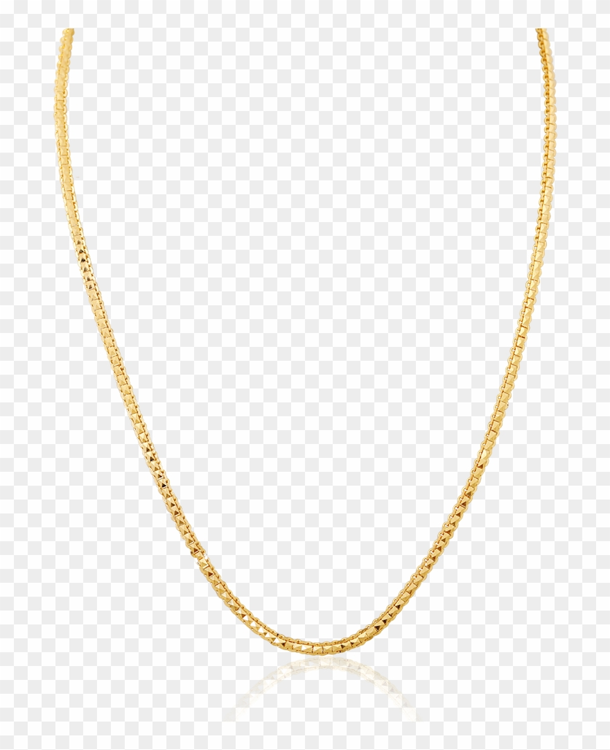 Charming Gold Interlink Chain.