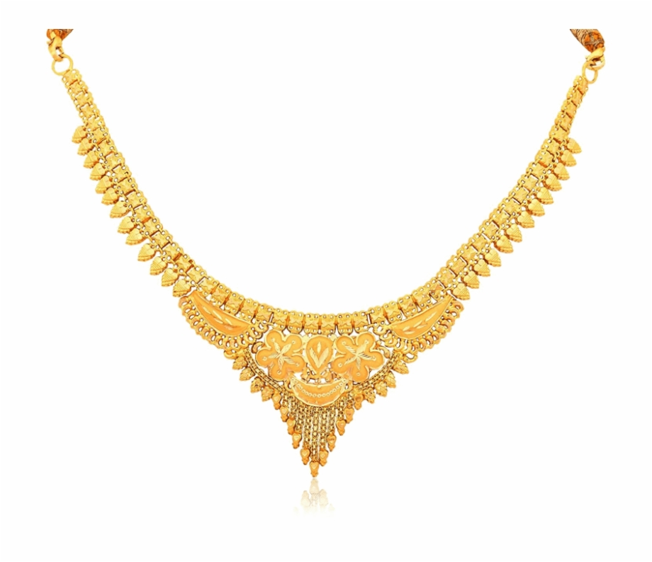 Gold Necklace Png.