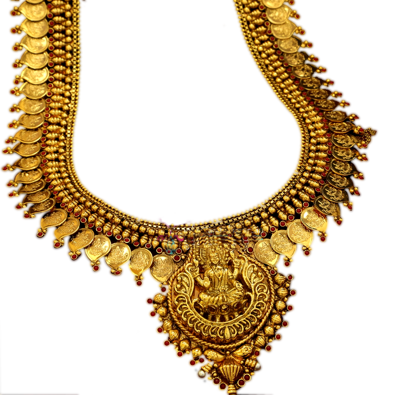 Heavy weight gold necklace jewellery transparent #45131.