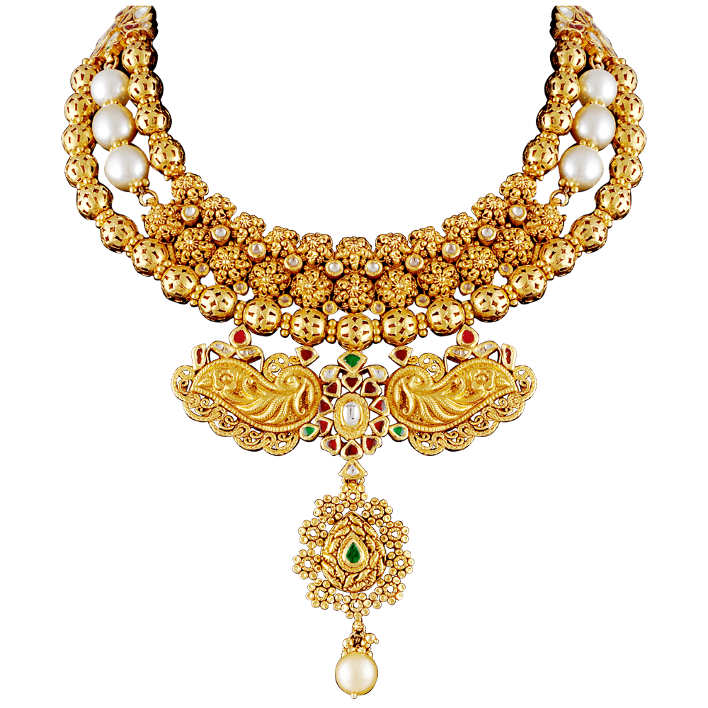 Download Gold Necklace PNG Image.