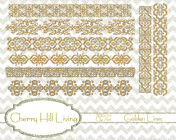 Gold Lace Borders Clipart.