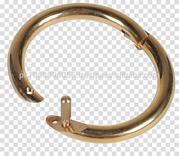 Cattle Bull Ring Jewellery Gold, nose piercing transparent.