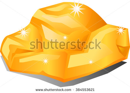 Gold Nugget Stock Images, Royalty.