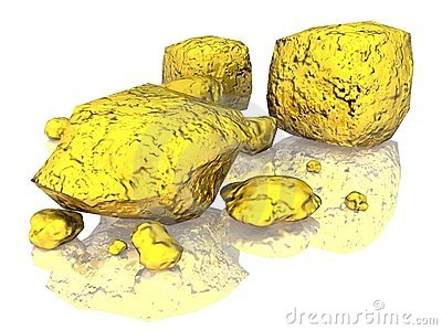 Gold nugget clipart.