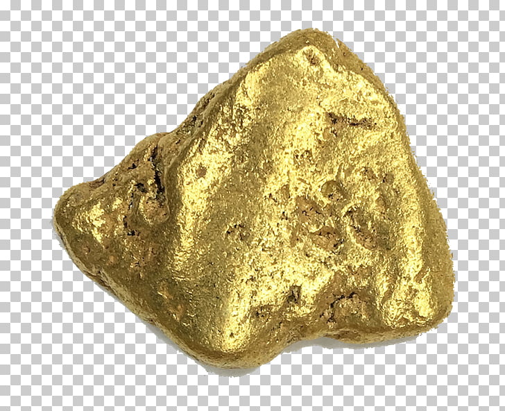 Gold nugget Metal Ore, gold dust PNG clipart.