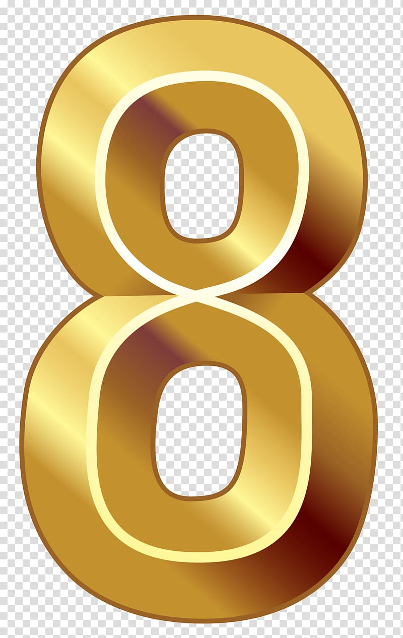 Gold Number , NUMBERS transparent background PNG clipart.