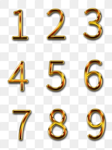 Gold Numbers Png, Vector, PSD, and Clipart With Transparent.