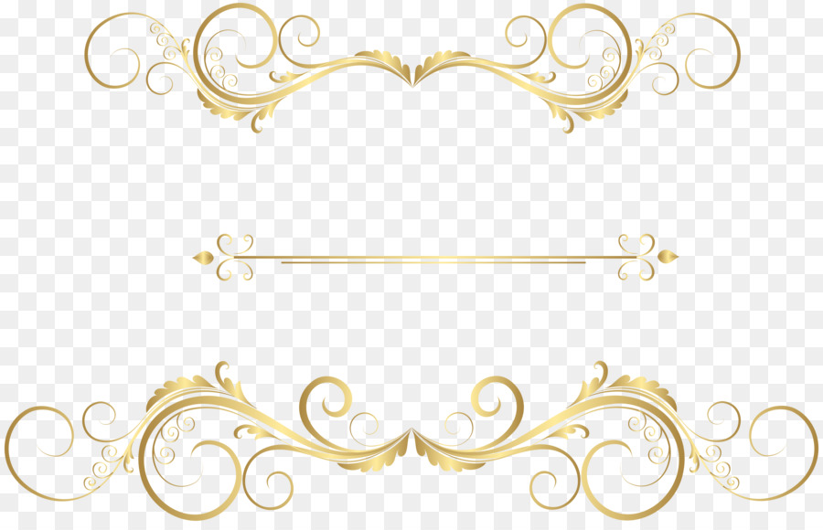 Gold Ornament png download.