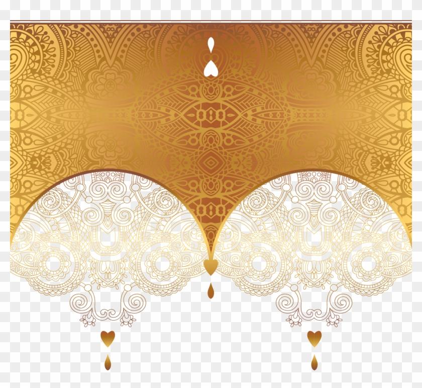 Gold Ornament Euclidean Vector Luxury Card Clipart.