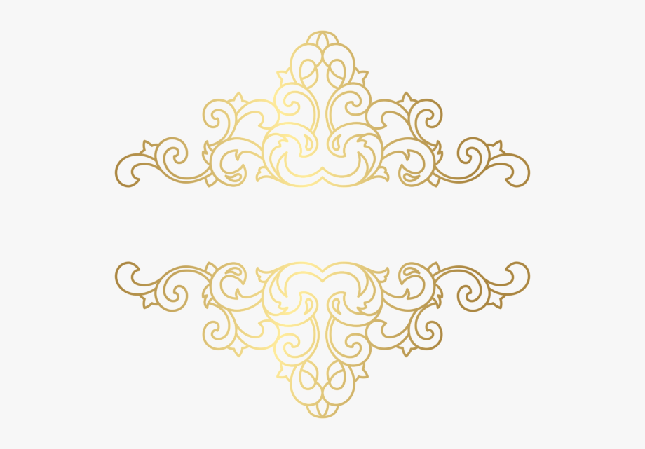 Damask Vector Gold Ornament.