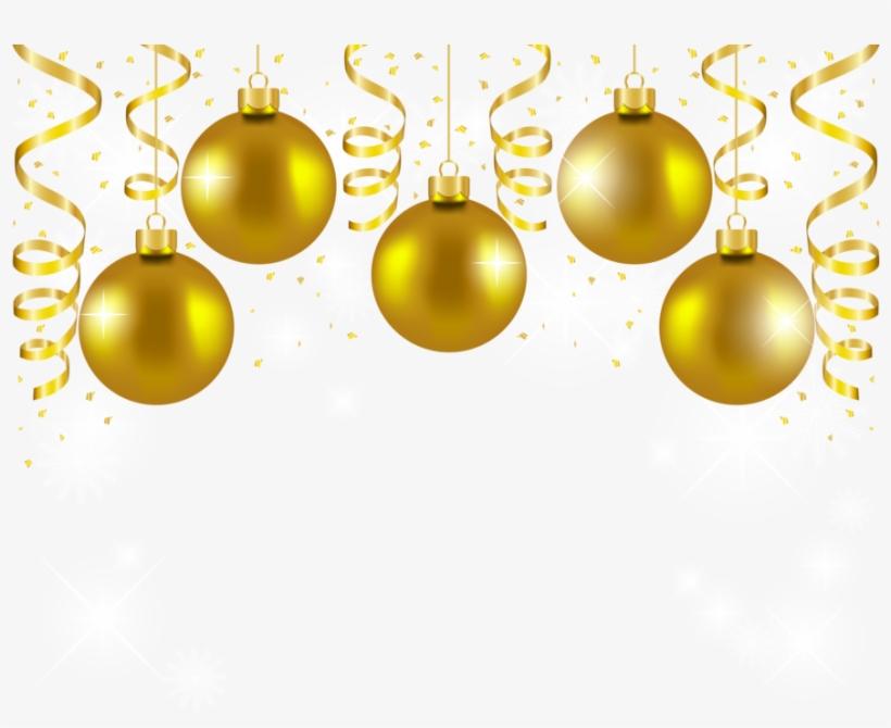 Download Gold Christmas Balls Png Clipart Christmas.