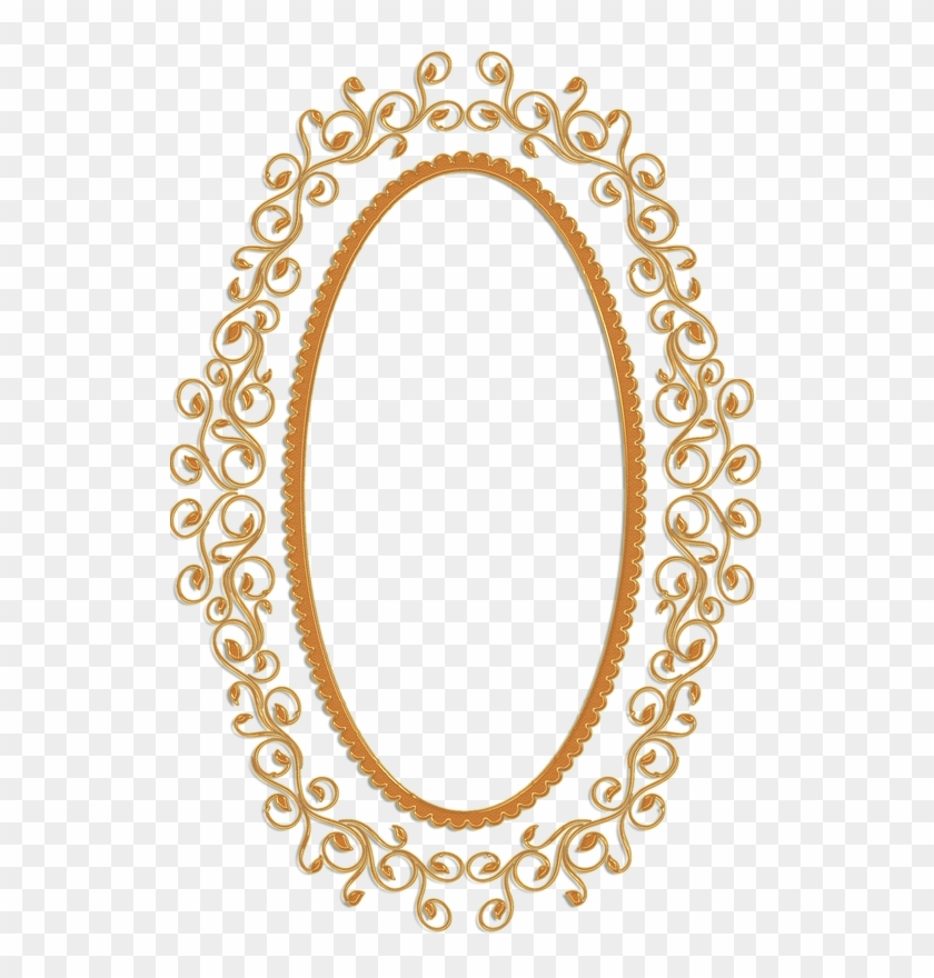 Oval Clipart Golden.