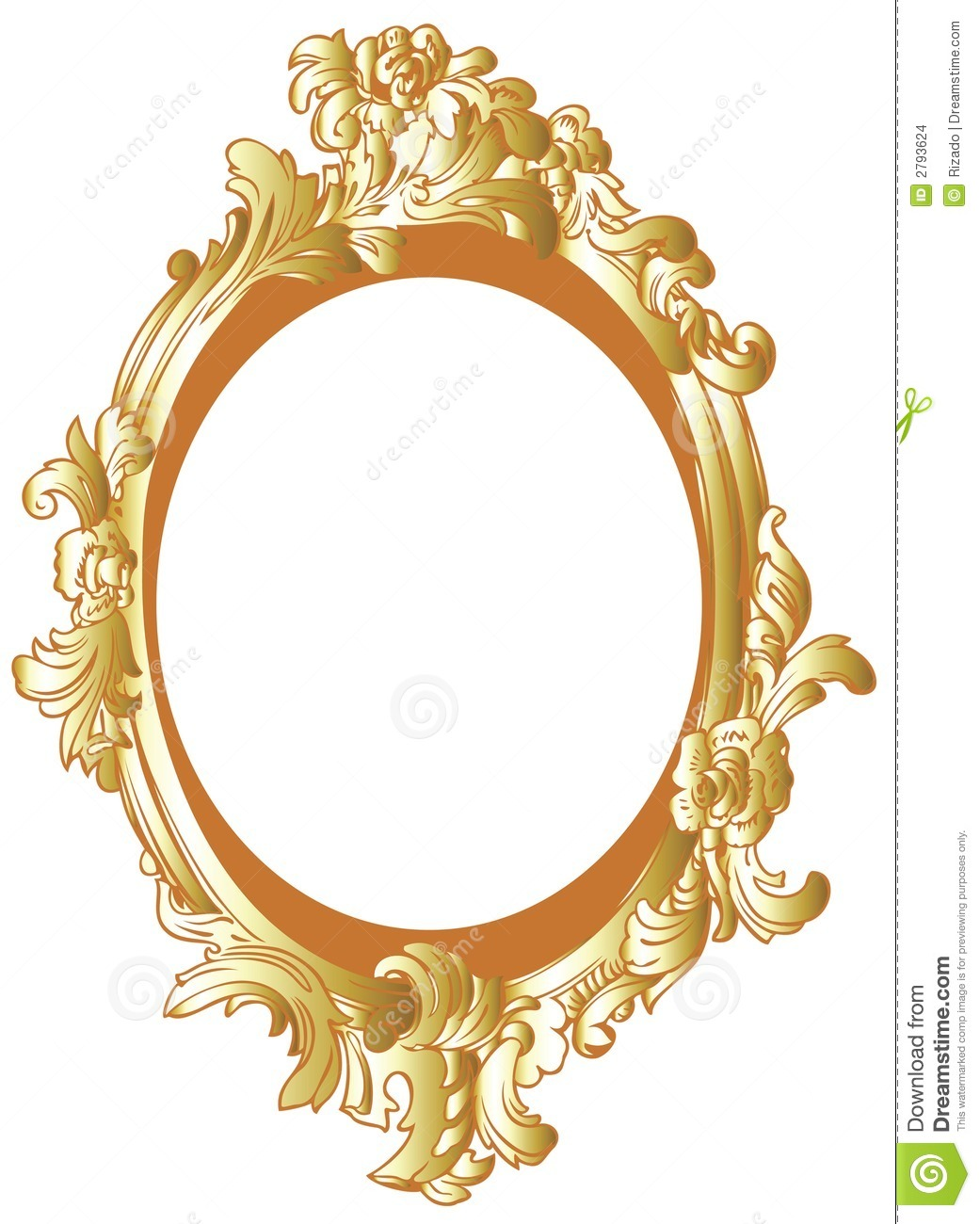 Oval Gold Frame Clipart.