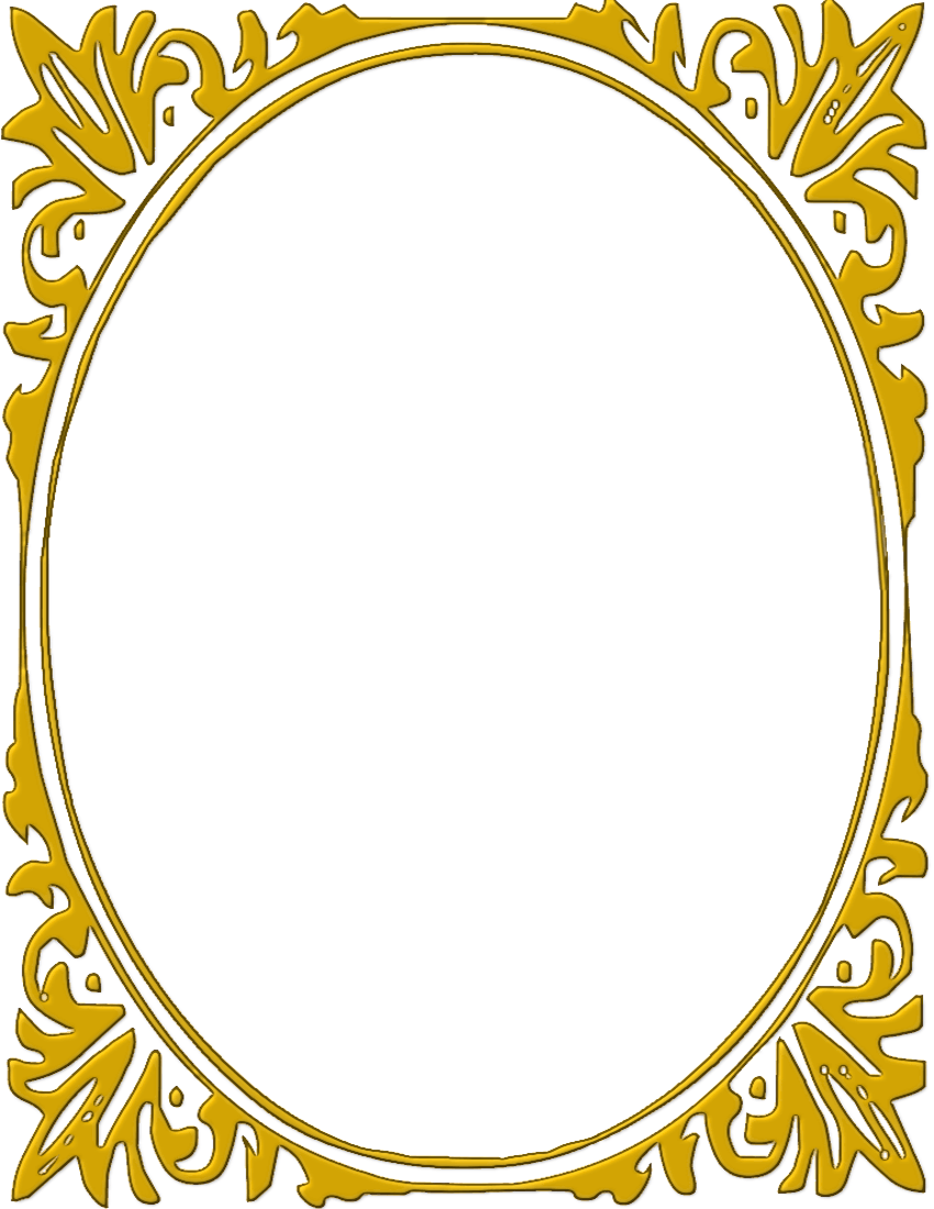 Gold oval frame clipart.