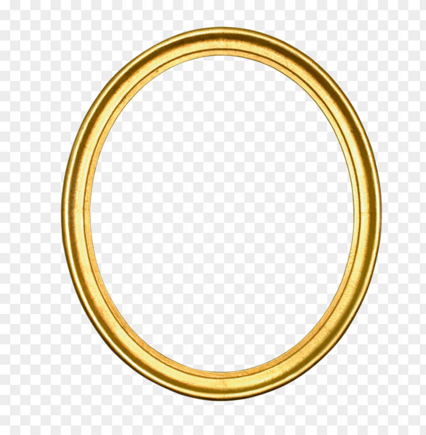 gold oval frame png PNG image with transparent background.