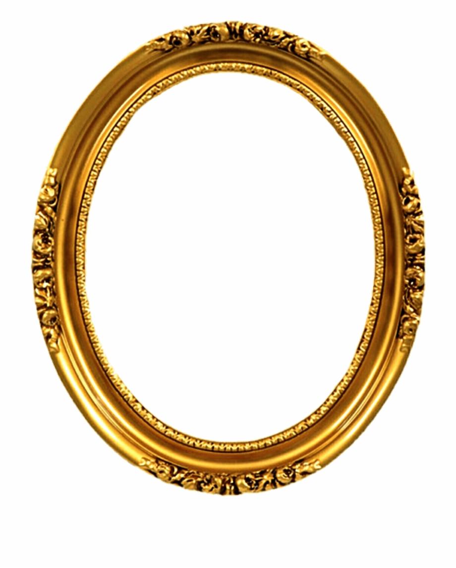Transparent Gold Oval Frames.