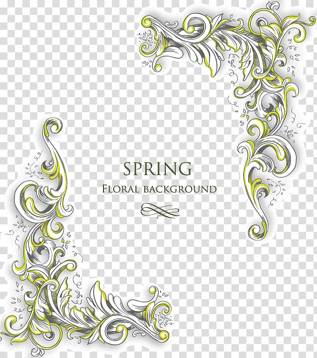 Brown background with spring text overlay, Texture Free gold.