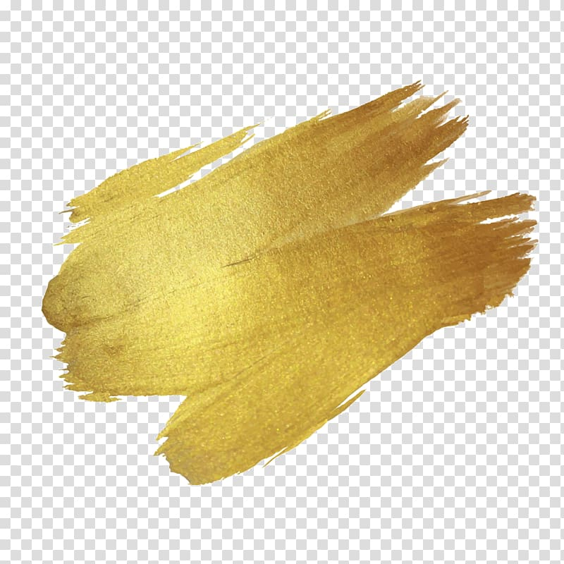 Brush Paint Gold Drawing, Gold paint, brown abstract painting.