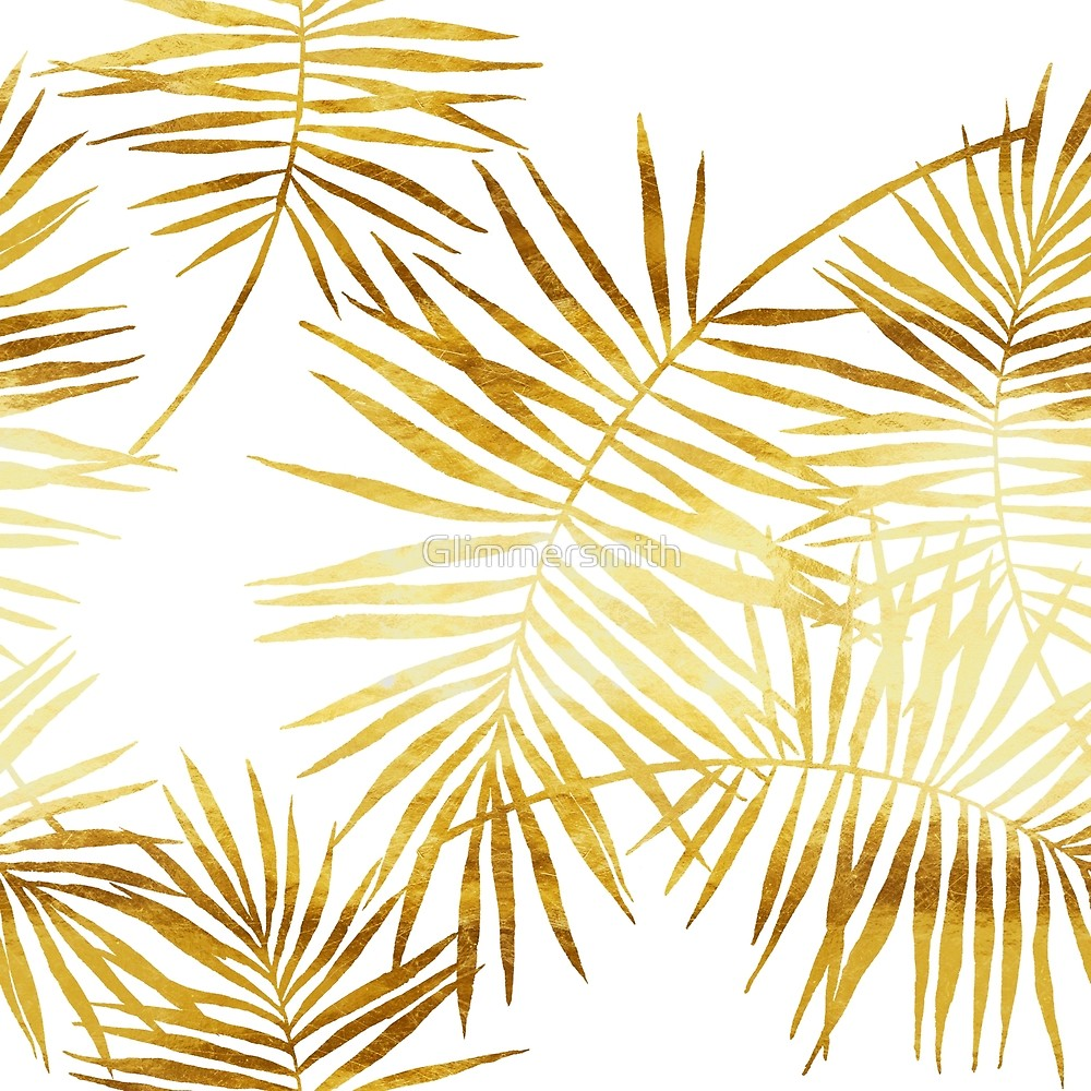 Palm Fronds Leaves in faux gold, Palmes d\'Or\