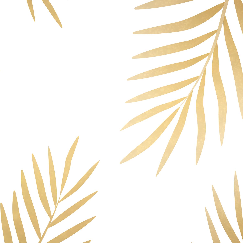 Gold palm leaves Leggings.