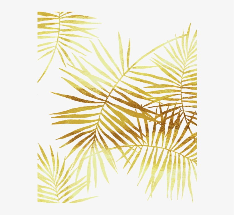 Gold Palm Leaves Png Clip Art Library.