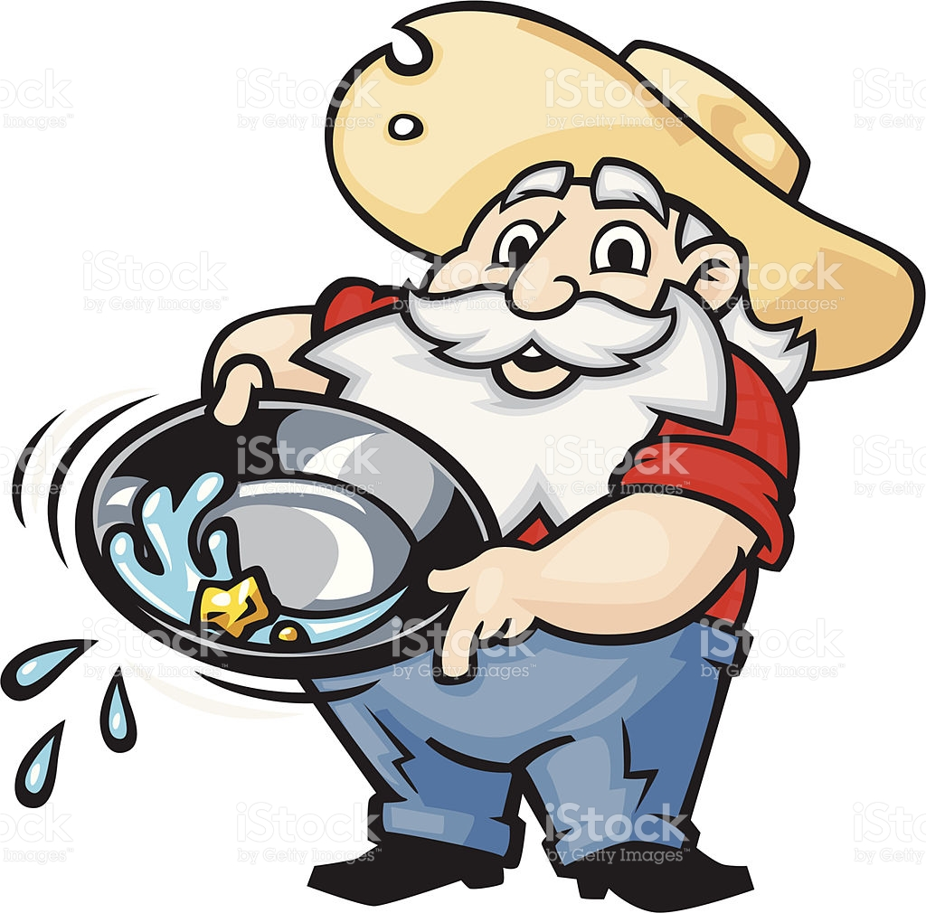 Old Miner Panning For Gold stock vector art 177458430.