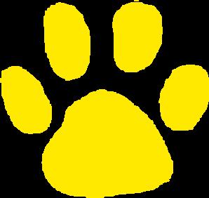 Jaguar Paw Print In Gold Clip Art at Clker.com.