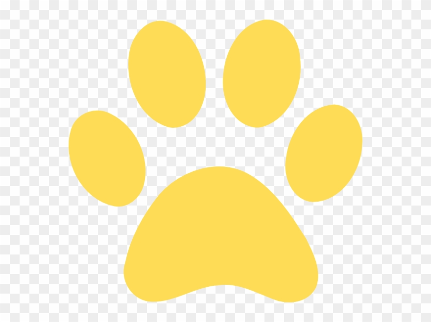 Gold Clipart Paw Print.