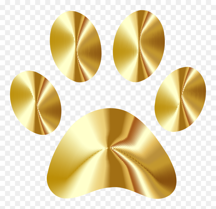 Gold Paw Print Clip Art, HD Png Download.