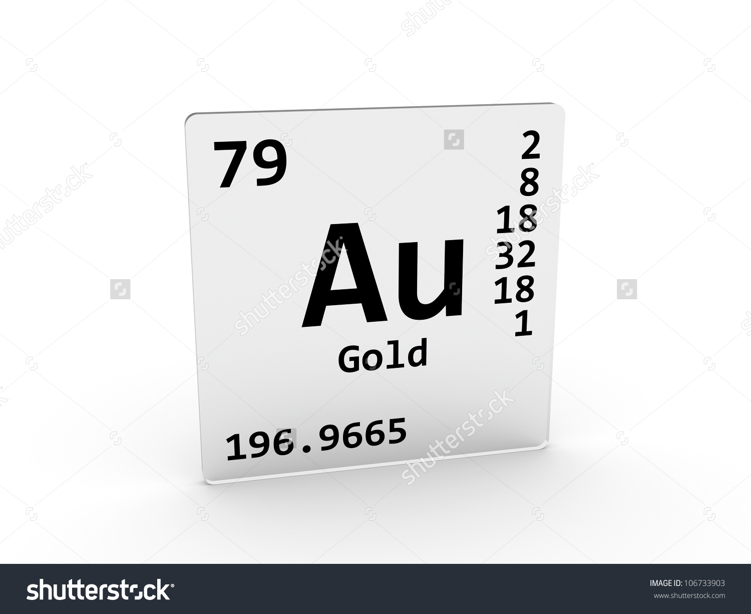 Gold Symbol Au Element Periodic Table Stock Illustration 106733903.