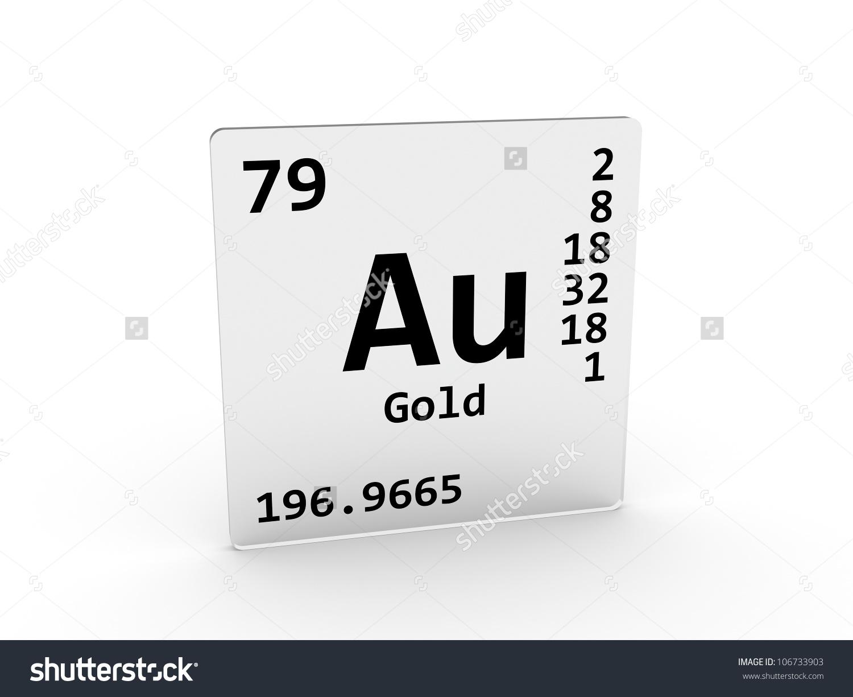 Gold Symbol Au Element Periodic Table Stock Illustration 106733903.