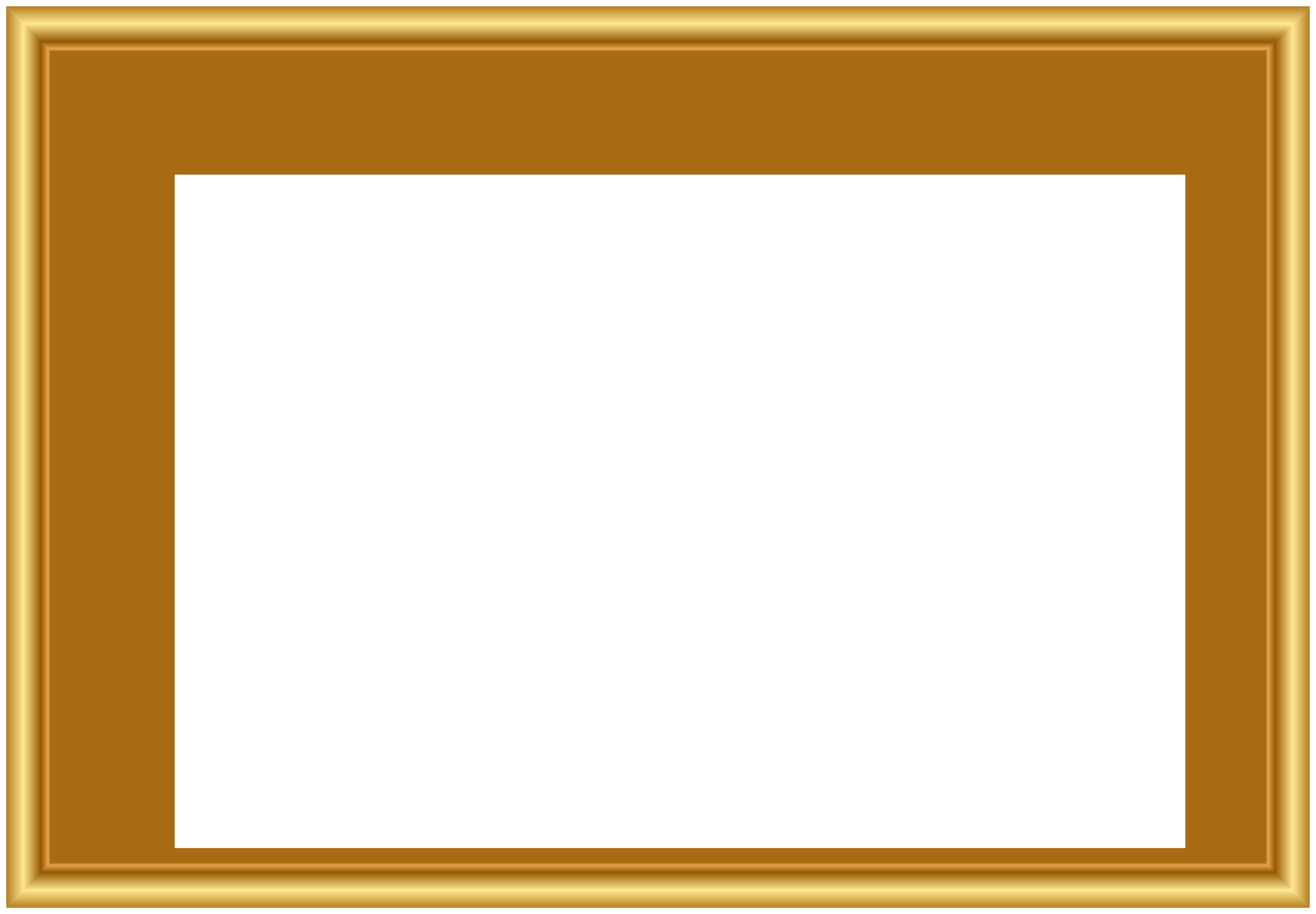 Gold Frame PNG Clip Art.