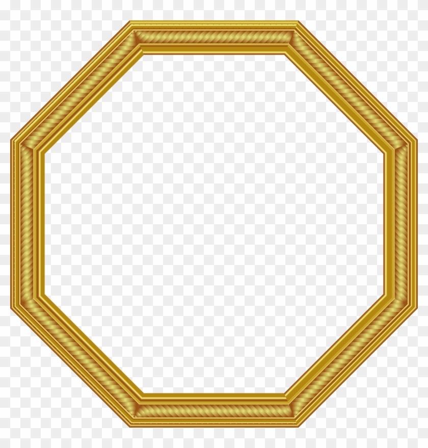 Transparent Gold Png Photo Frame.