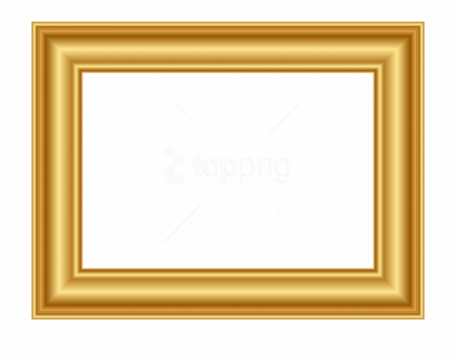 Gold Frame Png Decorative.