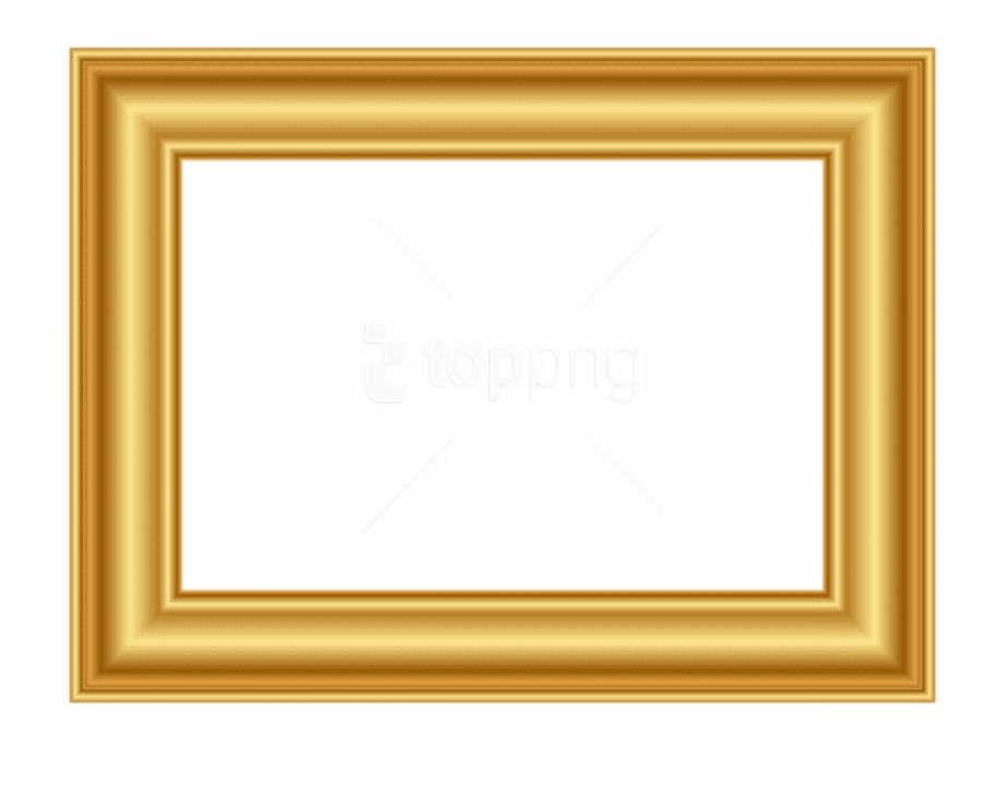 Gold Frame Png Decorative.