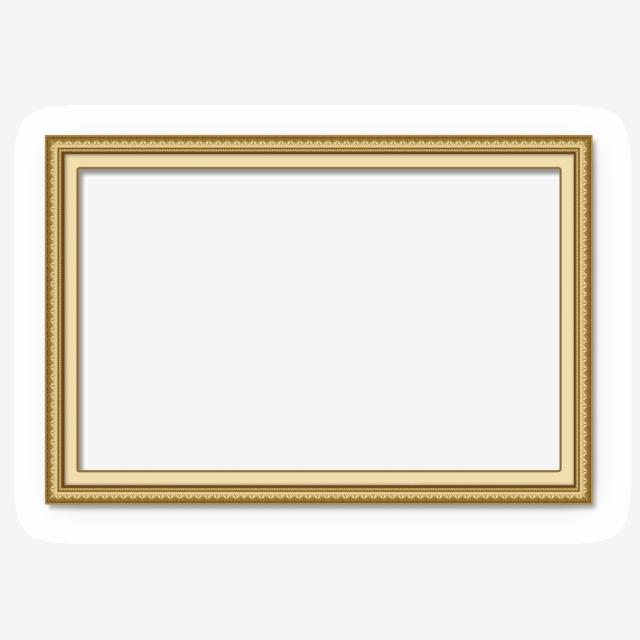 Golden Frame PNG Images.