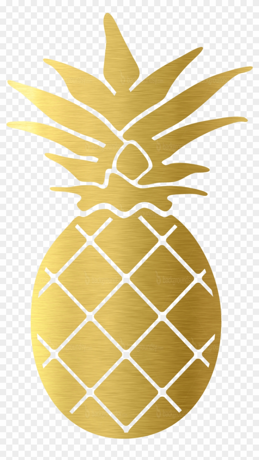 Gold Pineapple Png.