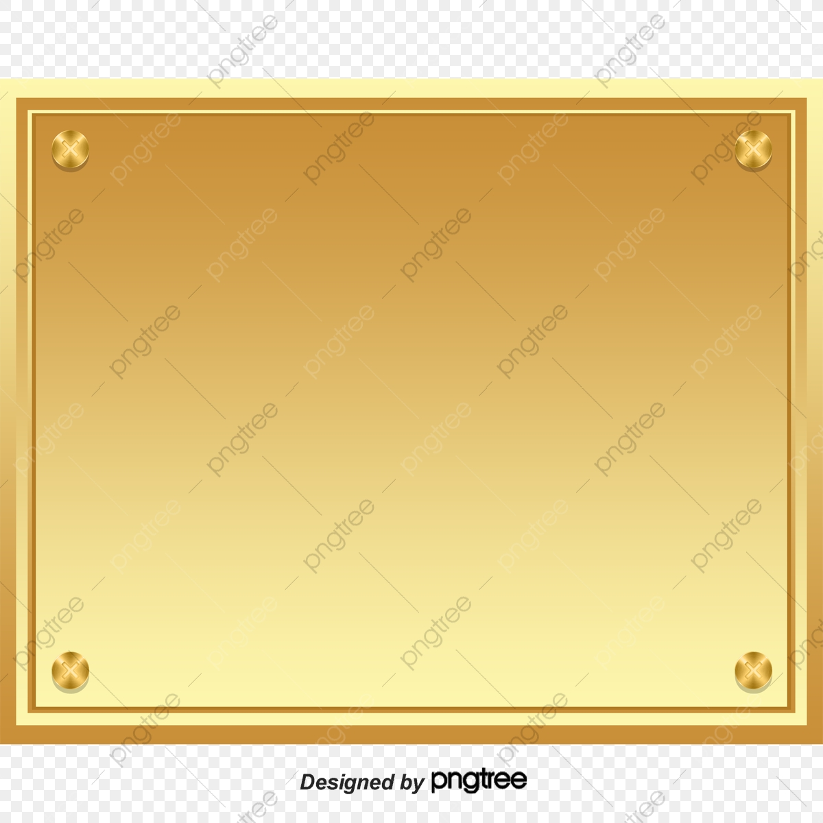 Gold Plaque Material Download, Gold, Golden, Plaque PNG Transparent.