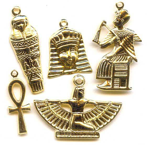 61044 Gold Plated Egyptian Charm Mix Finely detailed and full of.