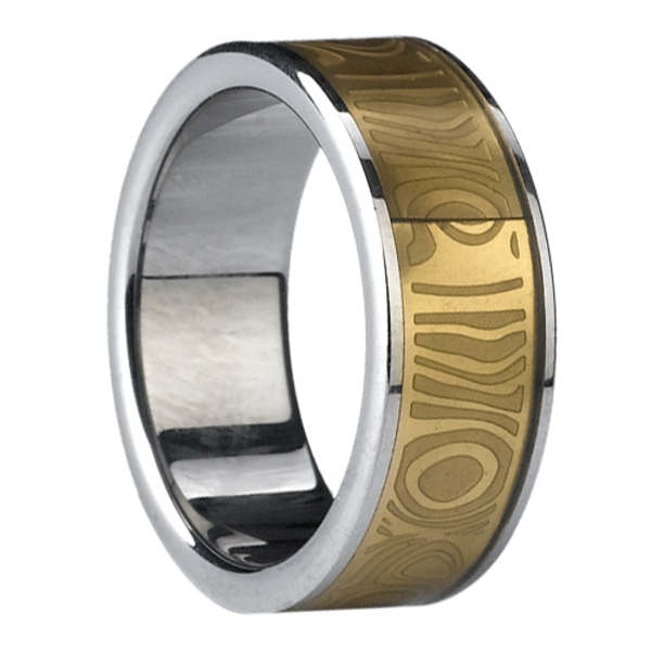 Mm Gold Plating Tungsten Ring.