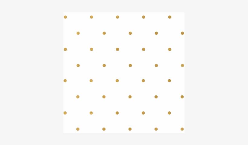Gold Polka Dots.