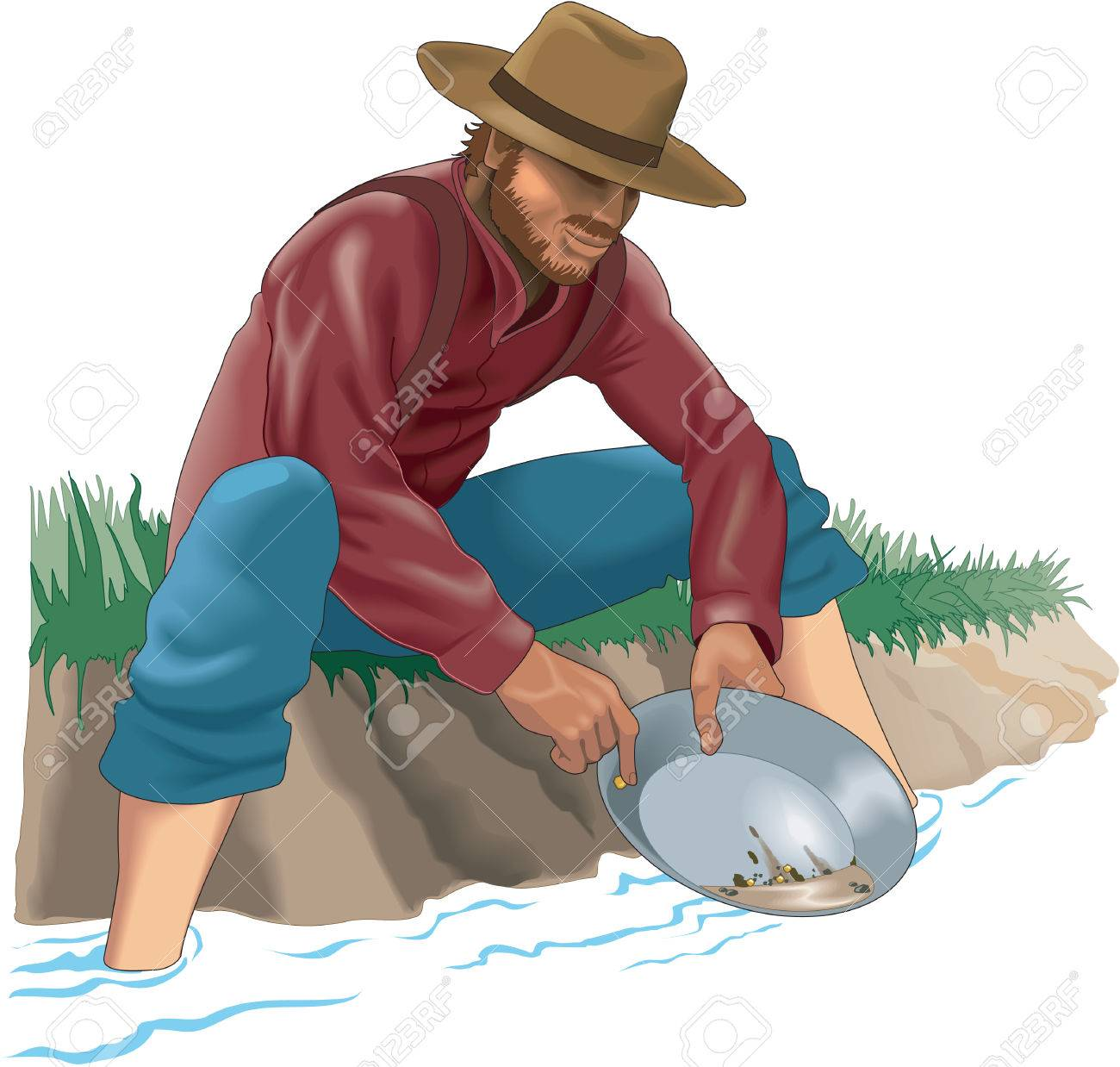 Gold Prospector Illustration.