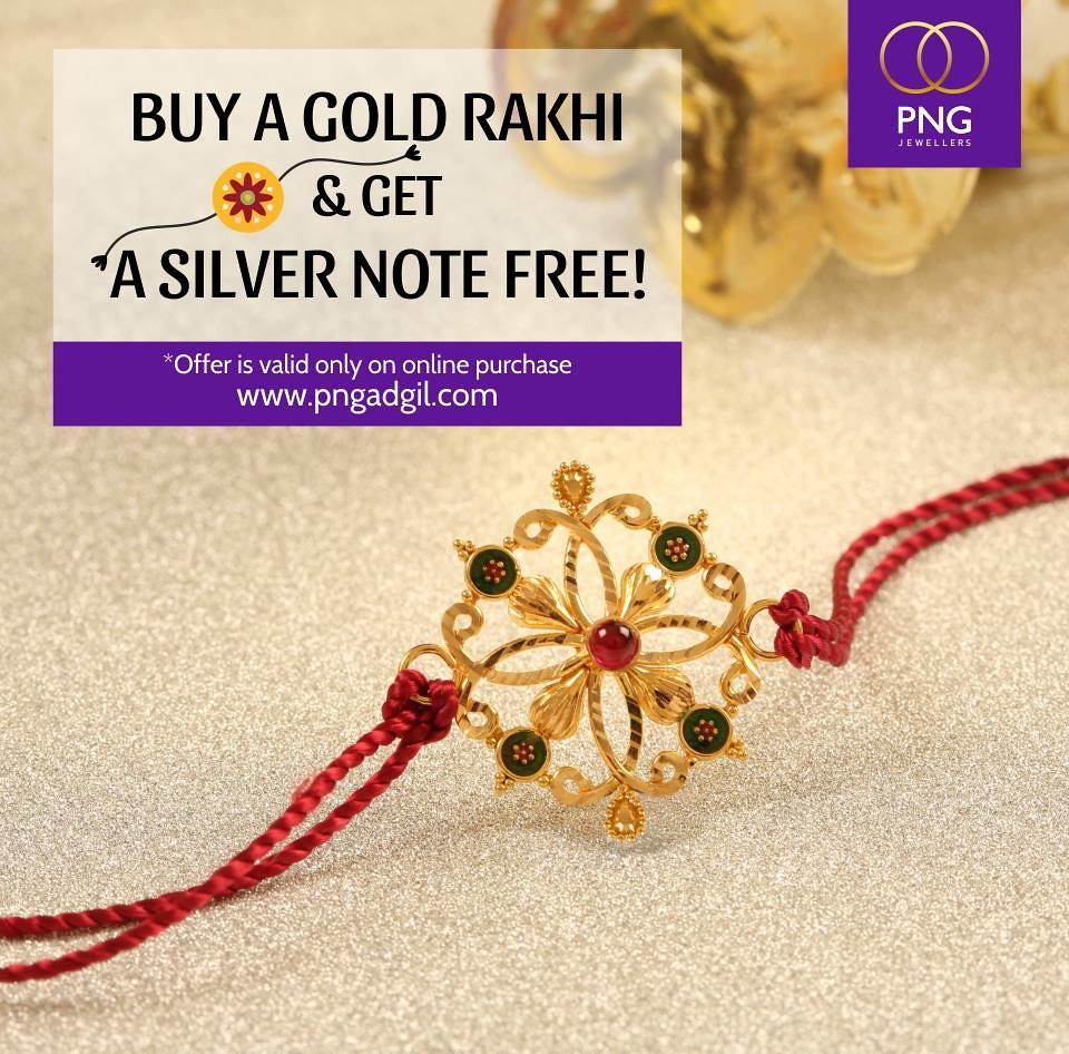 Rakhi by PNG Jewelers.