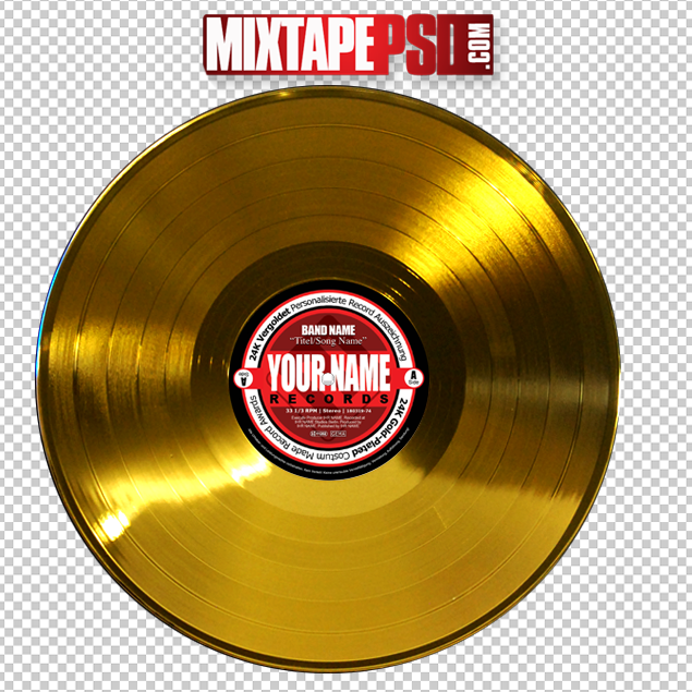 Gold Record LP Template.